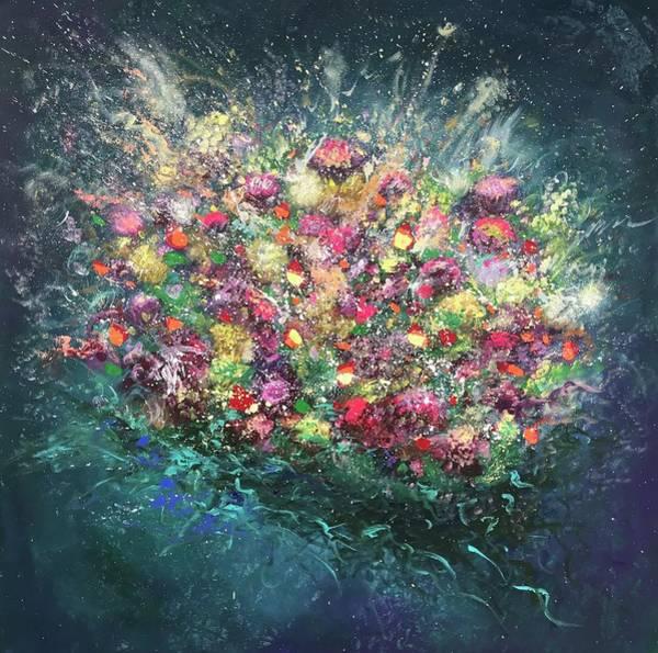 Amaryllis Painting - Delightful Sunday by Elena Guryeva