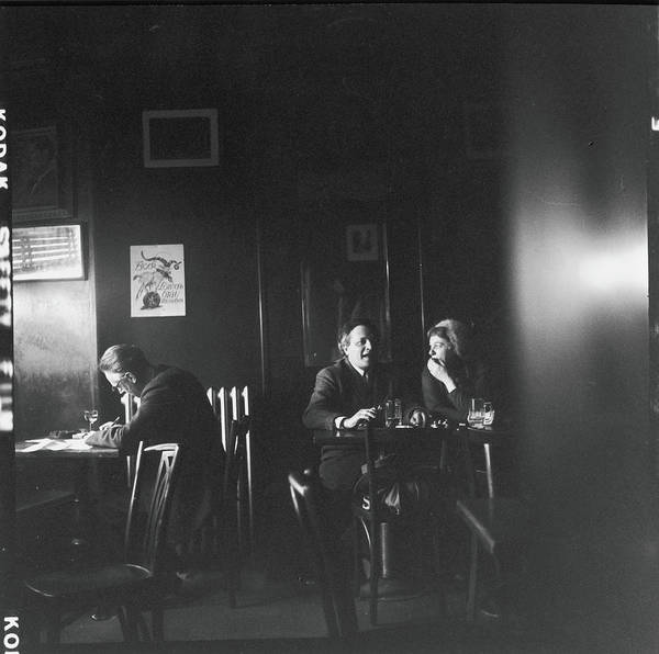 Poet Photograph - Delmore Schwartz In The White Horse by Fred W. McDarrah