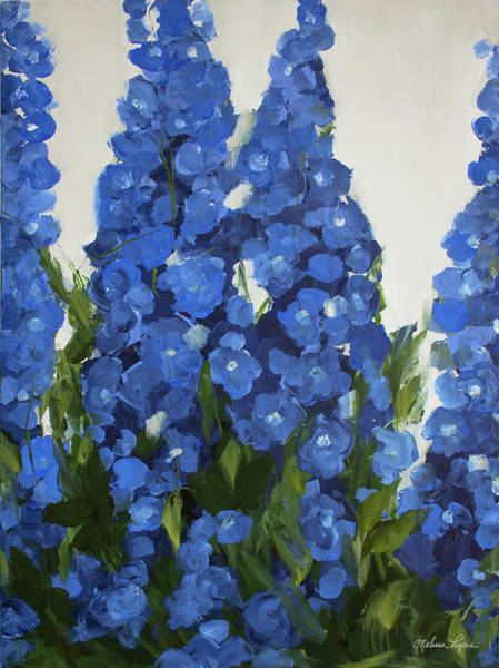 Wall Art - Painting - Delphiniums by Melissa Lyons