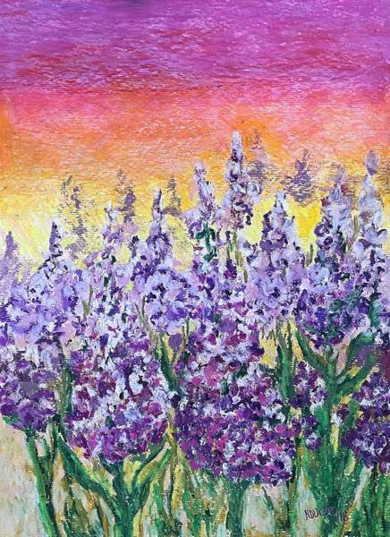 Painting - Delphiniums by Norma Duch