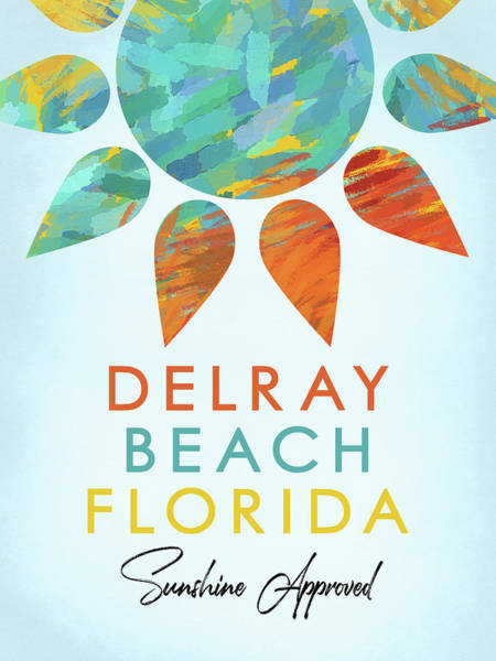 Cheerful Digital Art - Delray Beach Florida Sunshine by Flo Karp