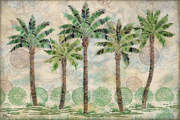 Wall Art - Painting - Delray Palm Horizontal I by Paul Brent
