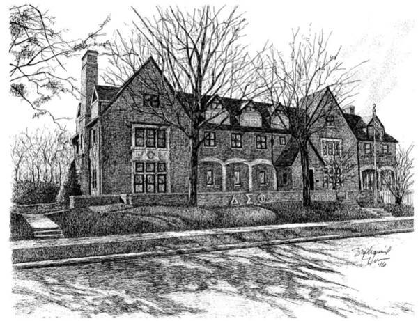 Delta Sigma Phi, Purdue University, West Lafayette, Indiana Art Print