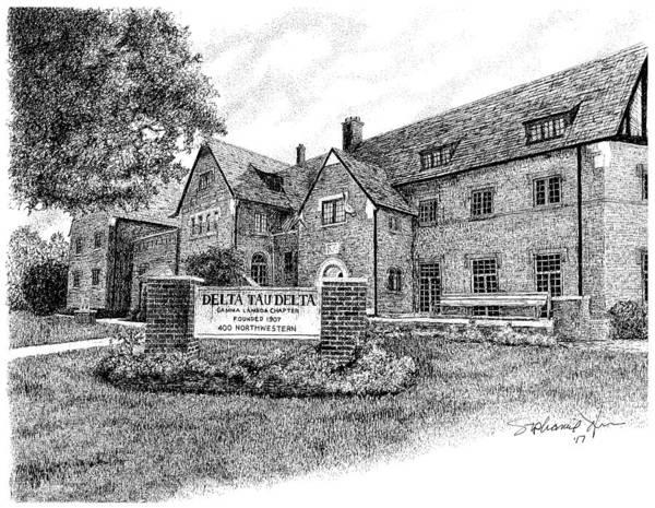 Delta Tau Delta Fraternity House, Purdue University, West Lafayette Art Print