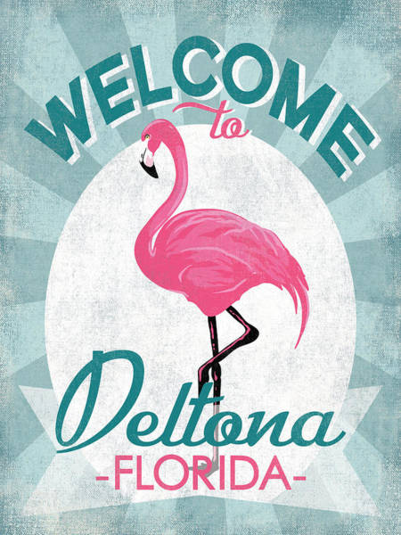 Wall Art - Digital Art - Deltona Florida Pink Flamingo by Flo Karp