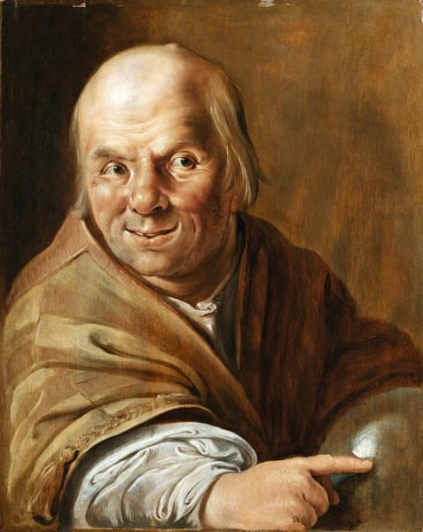 Painting - Democritus by Jan Tengnagel