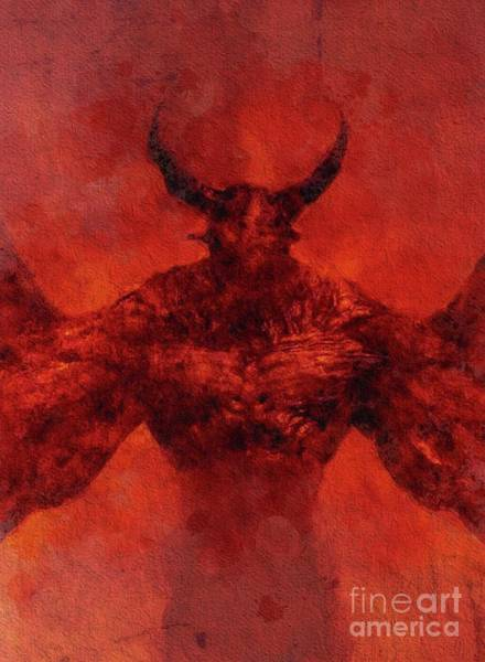 Satan Painting - Demon Lord by Sarah Kirk