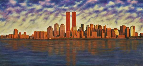 Wall Art - Painting - 9/11 Demon  by Charles Hill