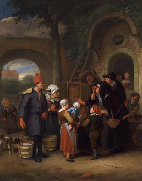 Wall Art - Painting - Demonstration Of Wax Figures by Jan Steen