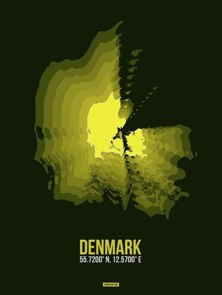 Wall Art - Digital Art - Denmark Radiant Map I by Naxart Studio
