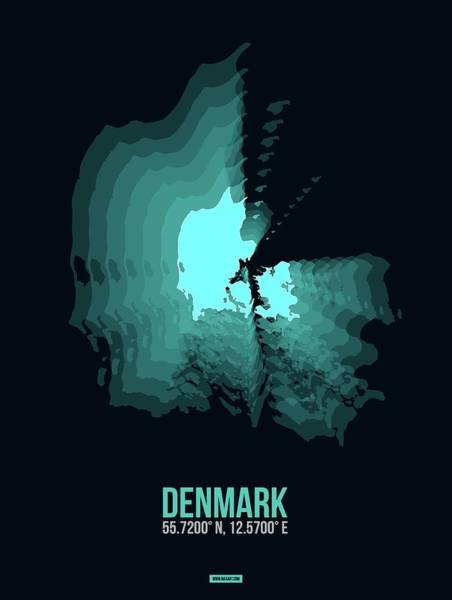 Wall Art - Digital Art - Denmark Radiant Map II by Naxart Studio