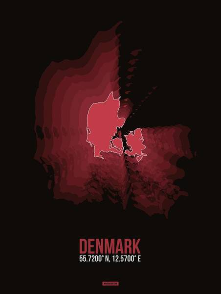Wall Art - Digital Art - Denmark Radiant Map IIi by Naxart Studio