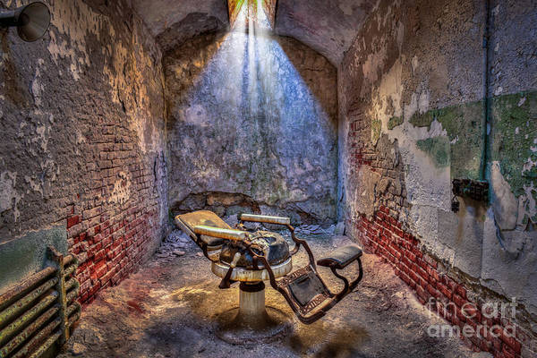 Photograph - Dental Chair Eastern State Penitentiary by Anthony Sacco