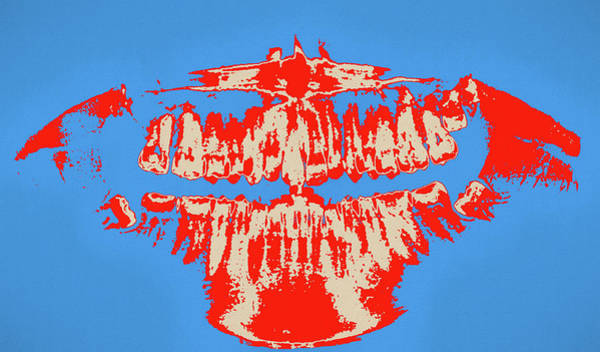 Painting - Dental Xray Pop Art by Dan Sproul