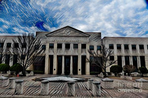 Photograph - Denton County Courthouse by Diana Mary Sharpton