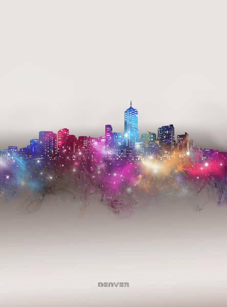 Wall Art - Digital Art - Denver Skyline Galaxy by Bekim M