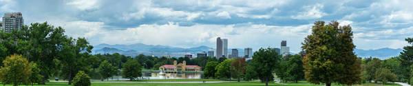 Wall Art - Photograph - Denver Skyline Pano by Linda Eszenyi
