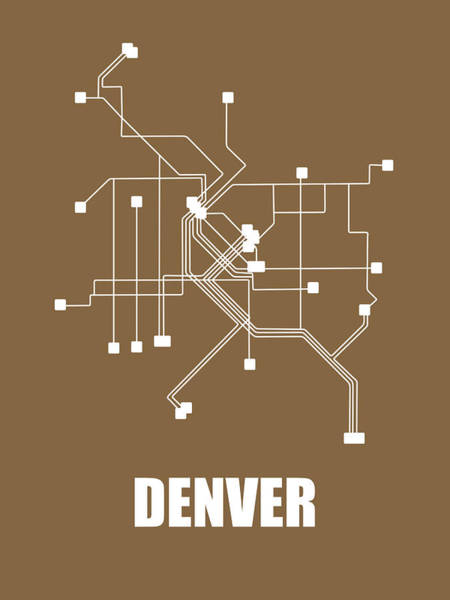 Wall Art - Photograph - Denver Subway Map 2 by Naxart Studio