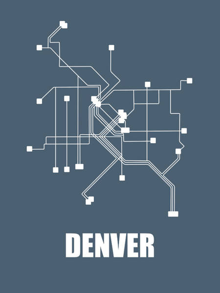 Wall Art - Digital Art - Denver Subway Map by Naxart Studio