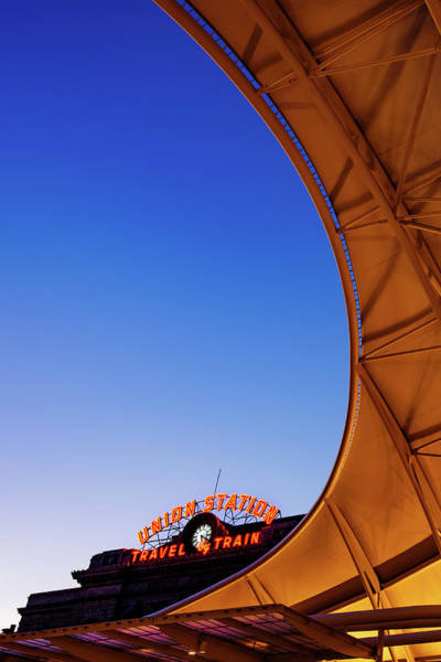 Photograph - Denver Union Station At Blue Dawn by Gregory Ballos