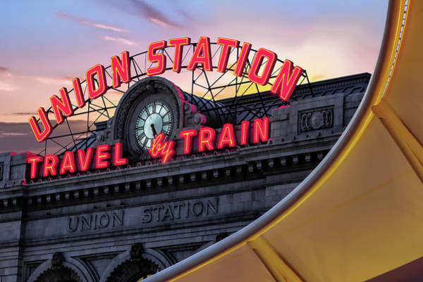 Photograph - Denver Union Station Travel By Train by Gregory Ballos