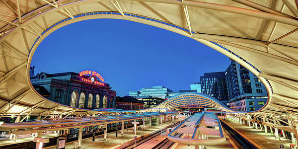 Photograph - Denver Union Train Station Morning Panoramic by Gregory Ballos