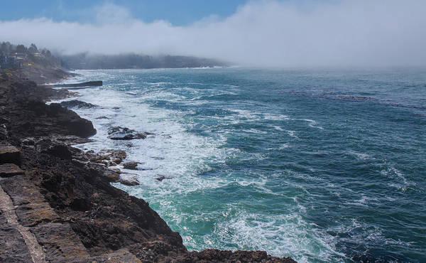 Photograph - Depoe Bay Coastline by John M Bailey