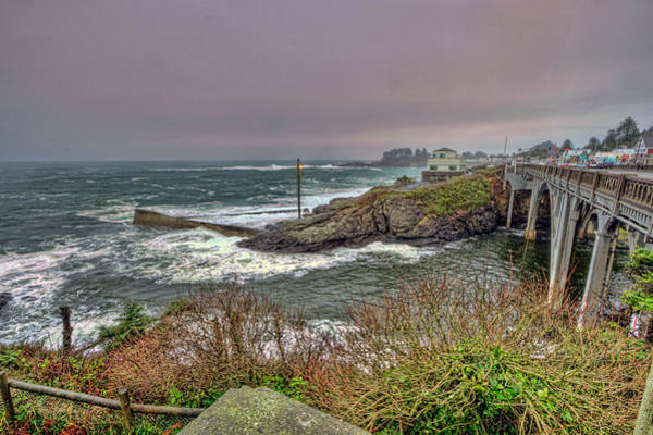 Camera Raw Photograph - Depoe Bay Storm Watching by Brenton Cooper