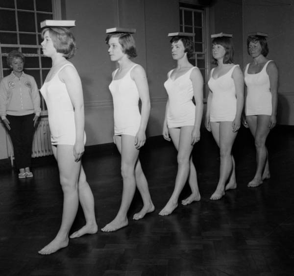 Education Photograph - Deportment Class by John Drysdale