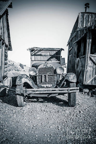 Wall Art - Photograph - Depression Era Dust Bowl Car by Edward Fielding
