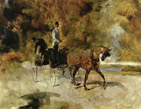 Painting - Der Einspanner by Henri Toulouse-Lautrec