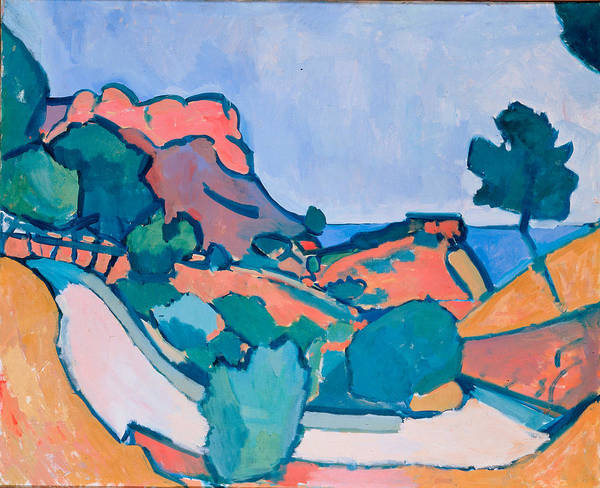 Wall Art - Painting - Derain, Andre - Road In The Mountains by Hermitage Museum