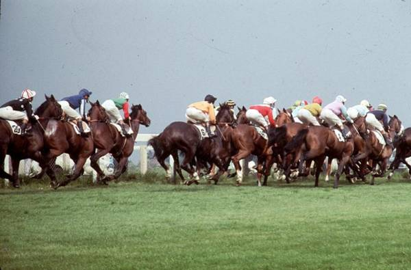 Epsom Derby Photograph - Derby Mile Post by John Minihan
