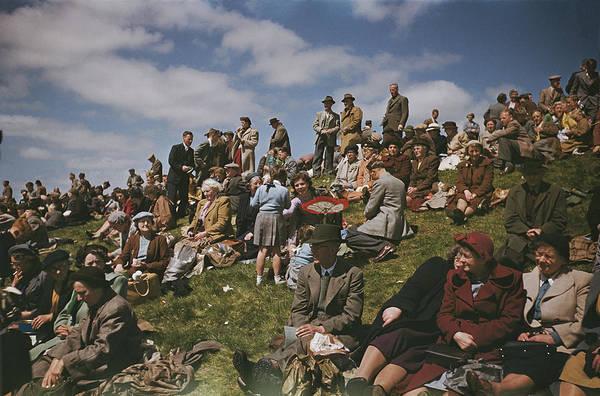 Epsom Derby Photograph - Derby Spectators by Bert Hardy