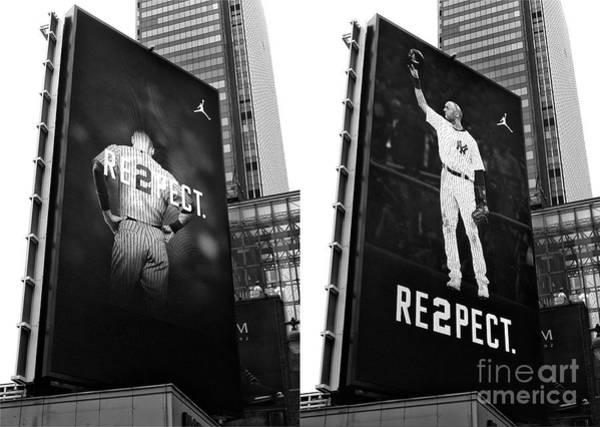 Photograph - Derek Jeter Re2pect Billboard Collage New York City by John Rizzuto