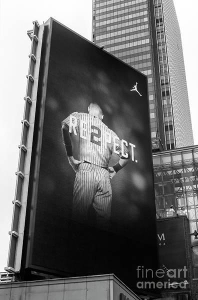 Photograph - Derek Jeter Re2pect Billboard New York City by John Rizzuto