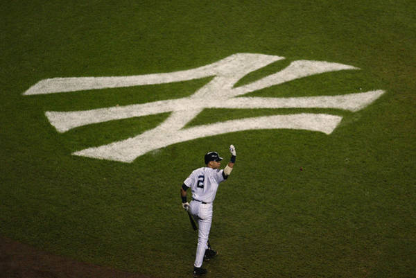 The Bronx Photograph - Derek Jeter Walks To The Plate by Jed Jacobsohn