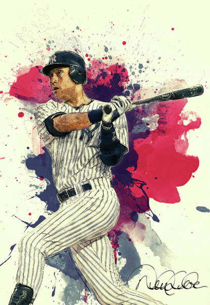 Wall Art - Painting - Derek Jeter by Zapista Zapista