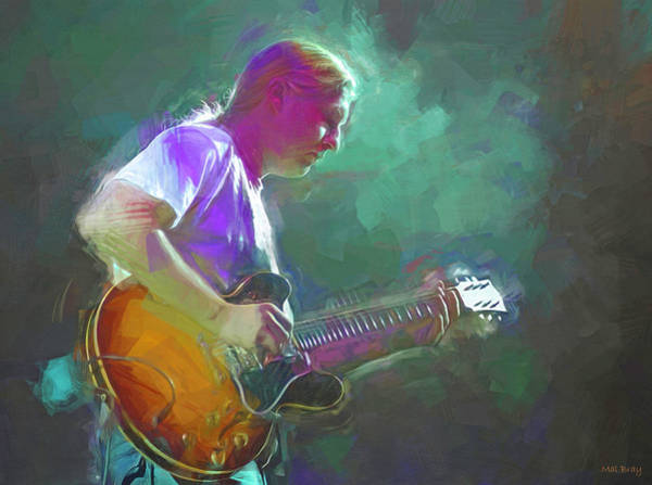 Wall Art - Mixed Media - Derek Trucks by Mal Bray