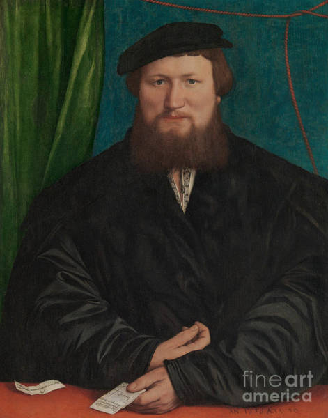 Wall Art - Painting - Derick Berck Of Cologne, 1536 by Hans Holbein the Younger