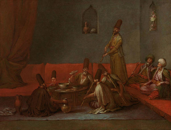 Painting - Dervishes At The Meal by Jean Baptiste Vanmour