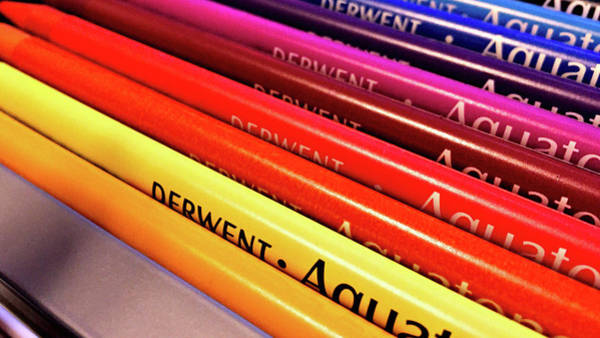 Photograph - Derwent Aquatone Pencils by Susan Maxwell Schmidt