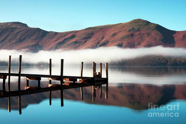 Wall Art - Photograph - Derwentwater Landing Stage.  The by Atgimages