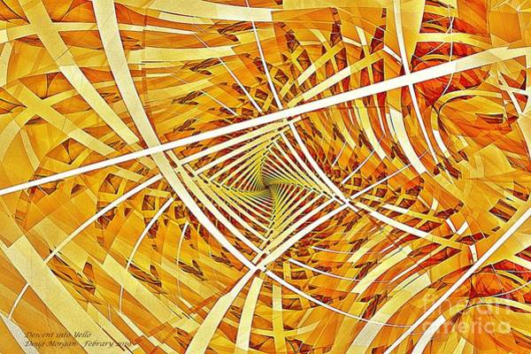 Digital Art - Descent Into Yello by Doug Morgan