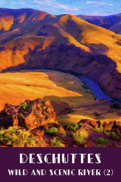 Digital Art - Deschuttes River 2 by Chuck Mountain