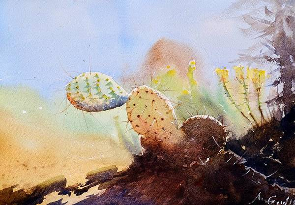 Wall Art - Painting - Desert Cactus by Max Good