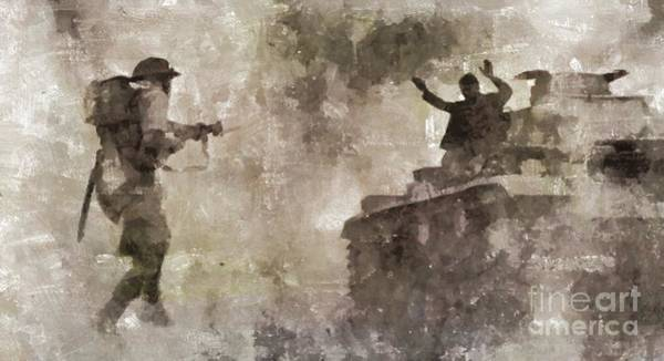 Wall Art - Painting - Desert Campaign, Wwii by Mary Bassett