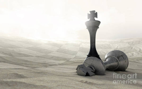 Wall Art - Digital Art - Desert Chess Game Over by Allan Swart