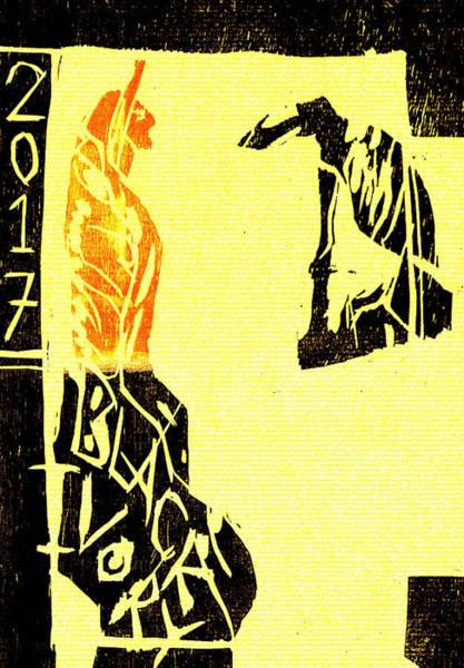 Digital Art - Desert Greyhound Black Ivory Woodcut Poster 6 by Artist Dot