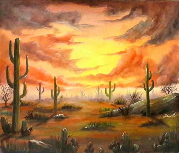 Painting - Desert by Manar Hawsawi